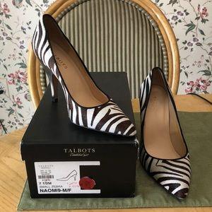 Talbots small zebra heels